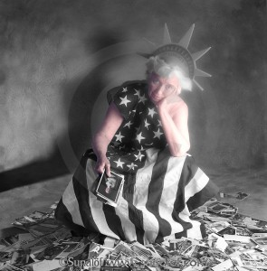 Studio Portraits & Ideas - Lady Liberty contemplates contemporary American leaders vs. founding fathers
